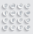 smart house system line icons set vector image vector image