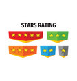 stars rating - concept badges design vector image