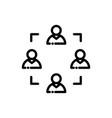 teamwork line icon vector image