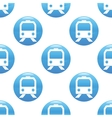 Train sign pattern vector image vector image