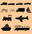 transportation icon-black vector image vector image