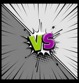 versus empty speech box text vector image