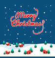 xmas village background vector image