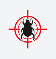 beetle icon red target vector image