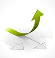 onwards upwards arrows vector image