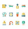 Set flat icons of bathroom vector image