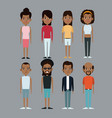 character group man and woman afro american vector image