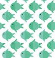Fish cartoon patternFish pattern vector image