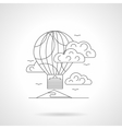Travel in balloon line detail vector image