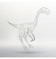 Dinosaur model Polygon vector image
