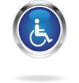 invalid blue icon vector image