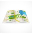 abstract city map and river vector image