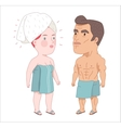 After shower Dodo People collection vector image vector image