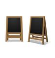 announcement menu board black wooden realistic vector image vector image