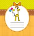 Baby Giraffe Card vector image vector image