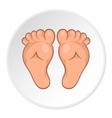 Babys legs icon cartoon style vector image