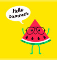 background of watermelons in glasses vector image