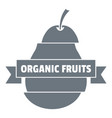 bio organic fruits logo simple style vector image