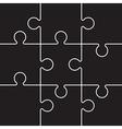 black jigsaw pieces vector image vector image