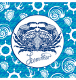 Blue crab vector image vector image