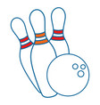 bowling isolated sport vector image vector image