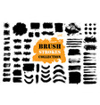 brush strokes text boxes vector image vector image