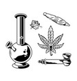 cannabis marijuana set vector image