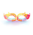 carnival mask with feathers with colorful vector image