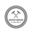 Carpenter label vector image