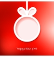 Christmas applique background EPS8 vector image vector image