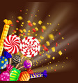 christmas template different sweets colorful vector image vector image