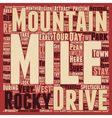 Classic Drives The Rocky Mountains Adventure Tour vector image vector image