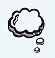 comic speech bubbles icon eps 10 vector image vector image