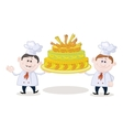 Cooks with holiday cake vector image vector image
