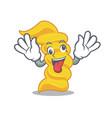 crazy fusilli pasta mascot cartoon vector image vector image