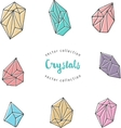 Crystals - hand drawn elements vector image vector image