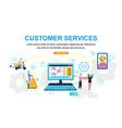 customer service online store vector image vector image