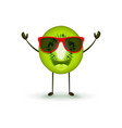 cute kiwi character vector image vector image