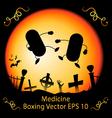 Dark Medicine Boxing vector image vector image