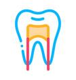 dental x-ray image stomatology sign icon vector image