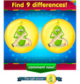 differences the funny cucumber vector image vector image