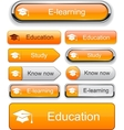 Education high-detailed modern buttons vector | Price: 1 Credit (USD $1)