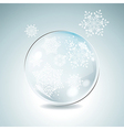 Fir tree bauble with white snowflakes Christmas vector image