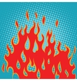 Fire red pop art vector image