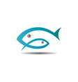 fish logo template ready for use vector image vector image