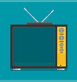 flat icon retro tv vector image vector image