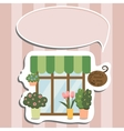 flower shop facade show-window vector image