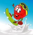 funny cow surfing vector image vector image