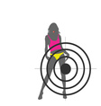 girl and target color vector image vector image