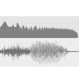 Gray sound waves on a white background vector image vector image